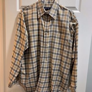 Lands' End, grey & taupe check